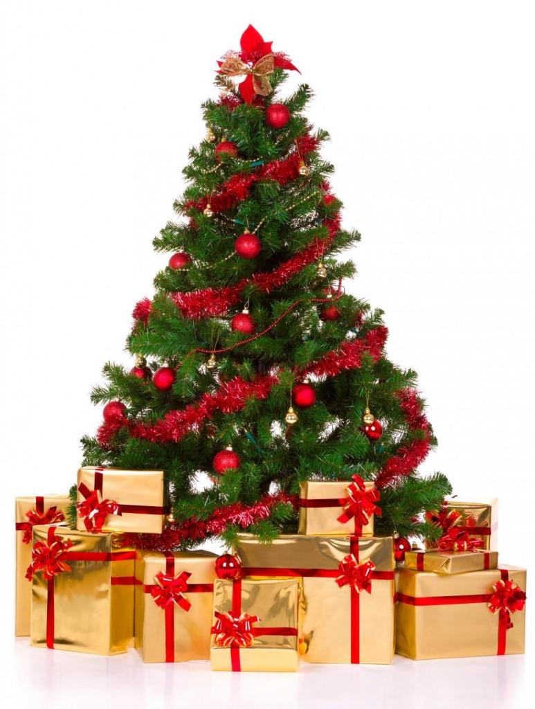 Открыткой, картинки елка новый год подарки